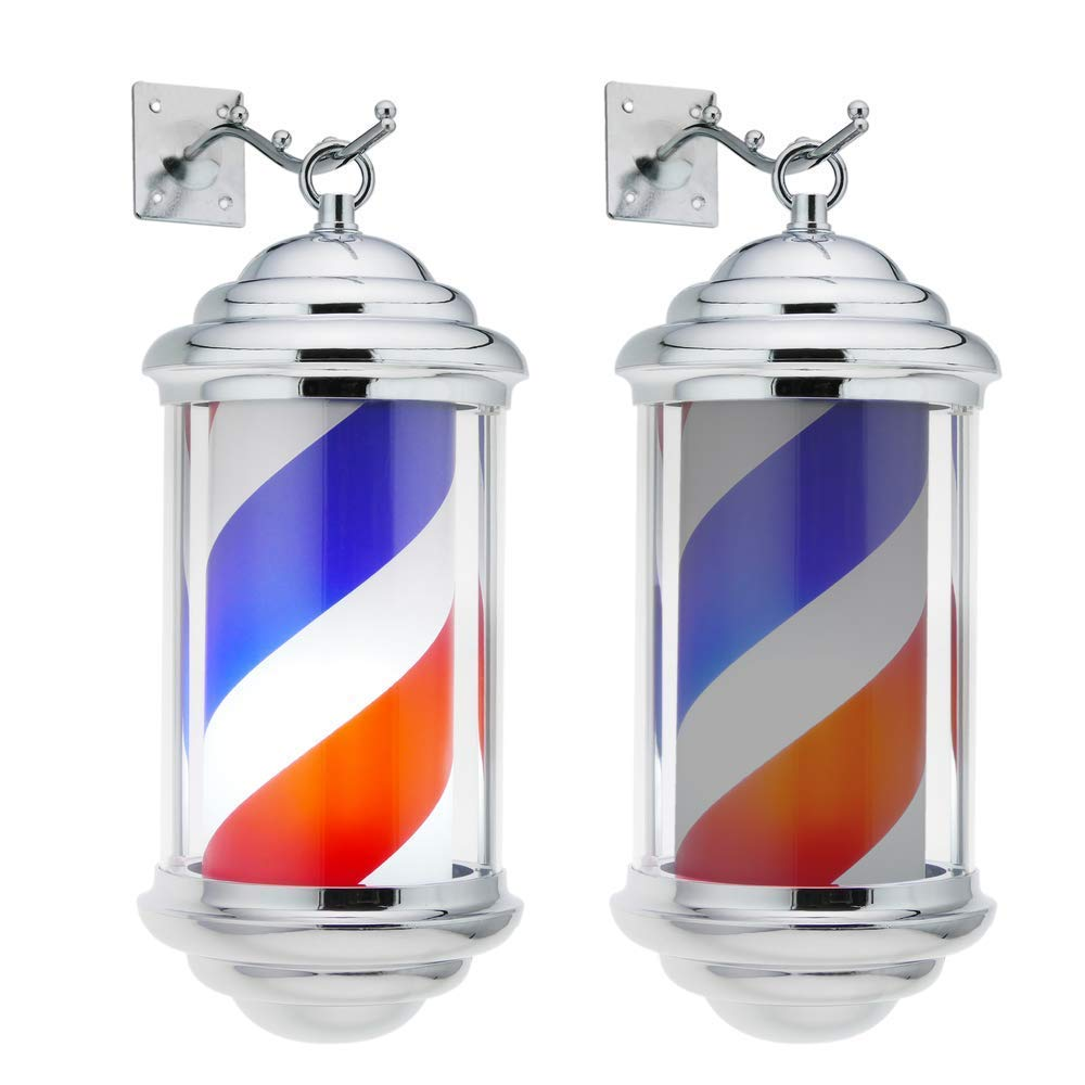 Sallypan Poste de Barbero Barber Pole 38CM LED Barbero Tienda ...