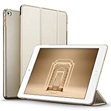 iPad Mini 4 Case, iPad Mini 4 Cover, ESR Yippee Colour Series Tri-fold PU Leather Smart Cover+Transparent Back Cover [Ultra Slim] [Scratch-Resistant Lining] [Perfect Fit] [Auto Wake Up/Sleep Function] Case for iPad Mini 4 (Champagne Gold)