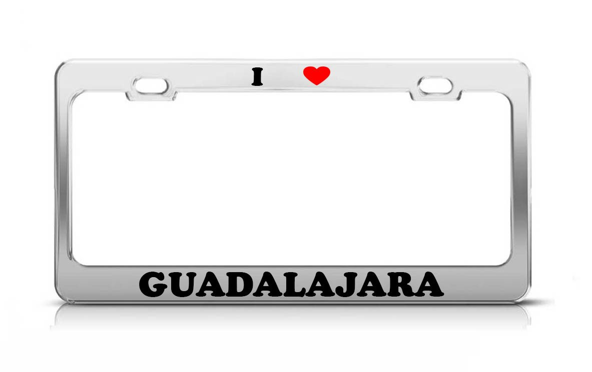 Amazon.com: I HEART GUADALAJARA Mexico Metal Auto License ...