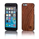 32nd® Wooden Back TPU Shell Phone Case Cover for Apple iPhone 6 6S - Made from Real Wood - Cherry