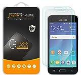 samsung galaxy j1 2016 (2 Pack) Supershieldz for Samsung Galaxy J1 (2016) Tempered Glass Screen Protector, Anti Scratch, Bubble Free