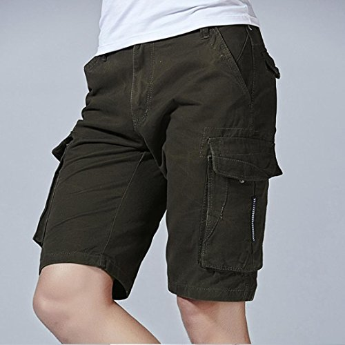 Allywit Clearance Sale Men Pants Fashion Mens Casual Pocket Beach Work Casual Short Trouser Shorts Pants by Allywit (Image #2)