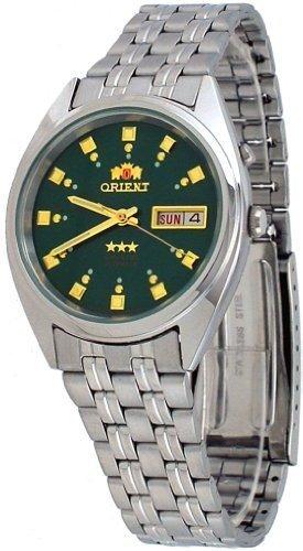 Orient #FEM0401NX Men's Tri Star Dark Green Dial Standard Self Winding Automatic Watch