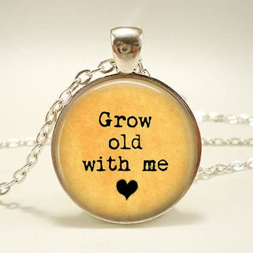 lovePendant, Grow old with me Necklace for wife