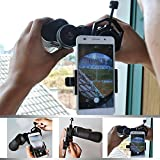 Hawkeye Universal Cell Phone Adapter Mount - Work with Binocular Monocular Spotting Scope Telescope and Microscope - For iPhone Samsung Galaxy Sony HTC LG and More Smartphones