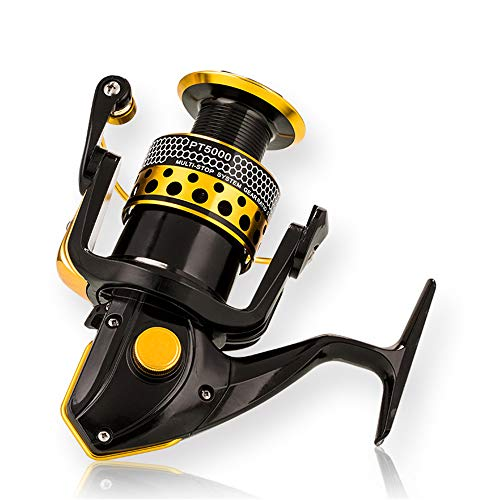 Spinning Reel Fishing Reel 3000 Series with Collapsible Handle Lightweight Metal Spinning Wheel Sea Fishing Wheel for Freshwater Saltwater Boat Fishing (Best Multiplier Reel For Boat Fishing)