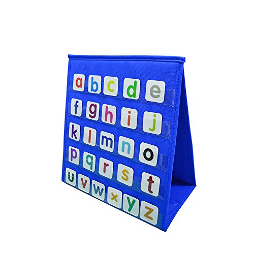 Godery Tabletop Pocket Chart, Double-sided & Multiuse Pocket Chart - Numbers and Words Activities, Class, Family Educational Tool (Number Words Chart)