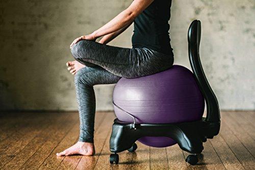 Gaiam Balance Ball Chair Purple Best Fitness Ball