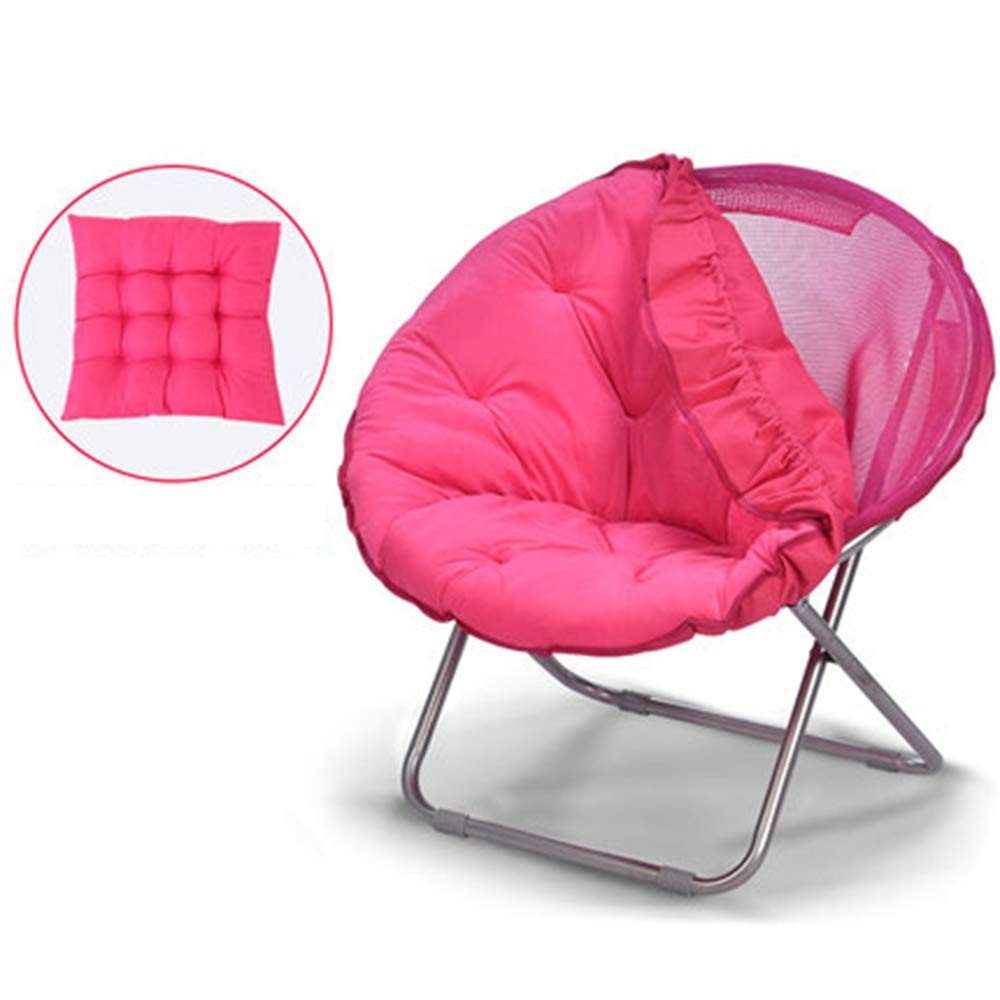 Pink + cushion + detachable Large Lazy Chair Moon Chair Folding Recliner Dormitory Chair Lunch Break Lazy Couch Chair Sun Lounger Leisure