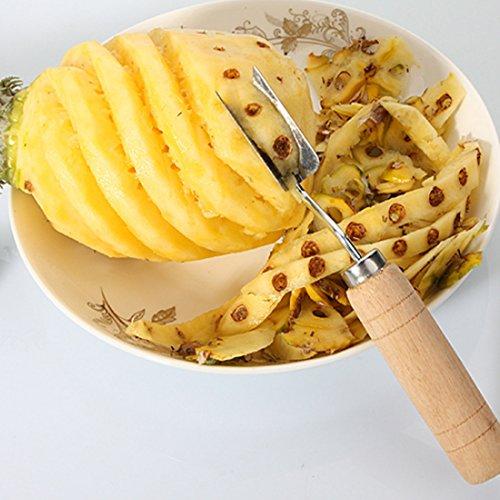 Katoot@ Stainless Steel V Shape Pineapple Peeler Fruit Knife Cutter Corer Slicer Cutter Kitchen (Pineapple Peeler)