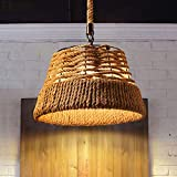 Chitty Vintage Hand-Woven Hemp Rope Chandelier Living Room Restaurant Cafe Wrought Iron Chandelier Bar Internet Cafe Hotel Industrial Wind Chandelier Creative