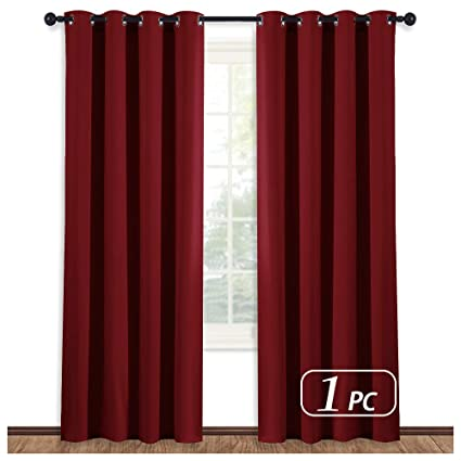 NICETOWN Burgundy Curtains for Living Room - (Burgundy Red) Home Decor  Energy Smart Thermal Insulated Window Treatment Drape/Drapery for Patio  Door, ...