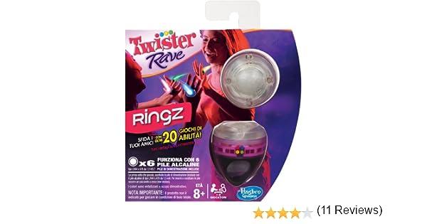 Hasbro Twister Rave Ringz - Juego de Habilidad (en Italiano) [Importado de Italia]: Amazon.es: Juguetes y juegos