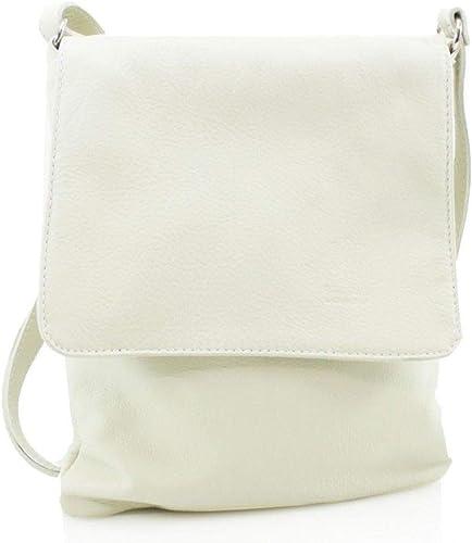 Women Fashion Small Square Vera Pelle Italian Leather Cross Body Shoulder Bags