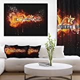 Electric Guitar Abstract Canvas art print