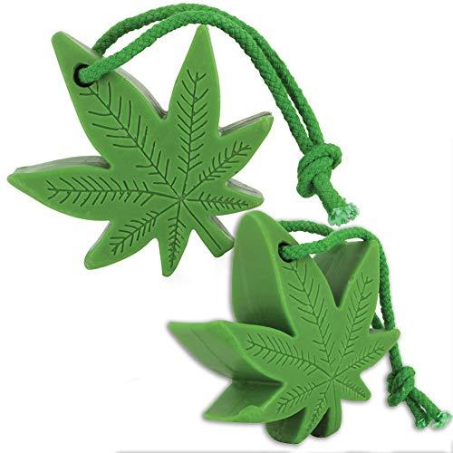 (Set/2) Hemp Soap On A Rope Marijuana Leaf Shaped ()