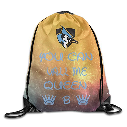 [PKTWO Cinch Backpack Johns Hopkins University Queen Camping Drawstring Bag] (Blue Bull Mascot Costume)