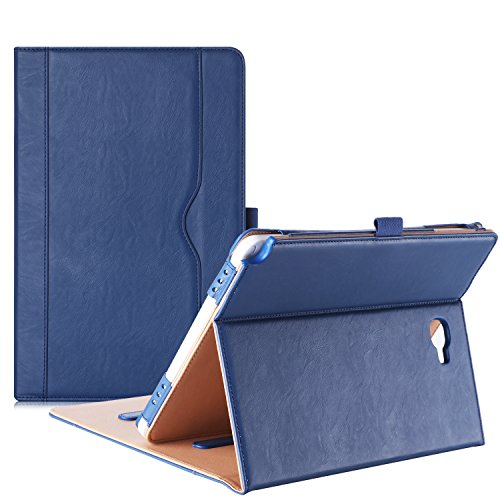 ProCase Samsung Galaxy Tab A 10.1 with S Pen Case - Stand Folio Case Cover for Galaxy Tab A 10.1 Inch Tablet with S Pen SM-P580, with Multiple Viewing Angles, Document Card Pocket - Navy Blue