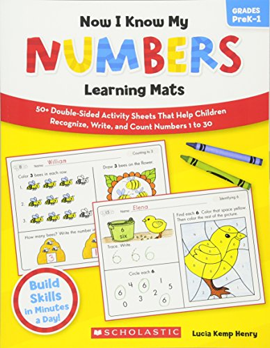 Now I Know My Numbers Learning Mats: 50+ Double-Sided Activity Sheets That Help Children Recognize, Write, and Count Numbers 1 to 30