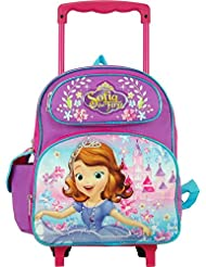 Disney Junior Sofia the First Lovely Castle 12 Toddler Rolling Backpack