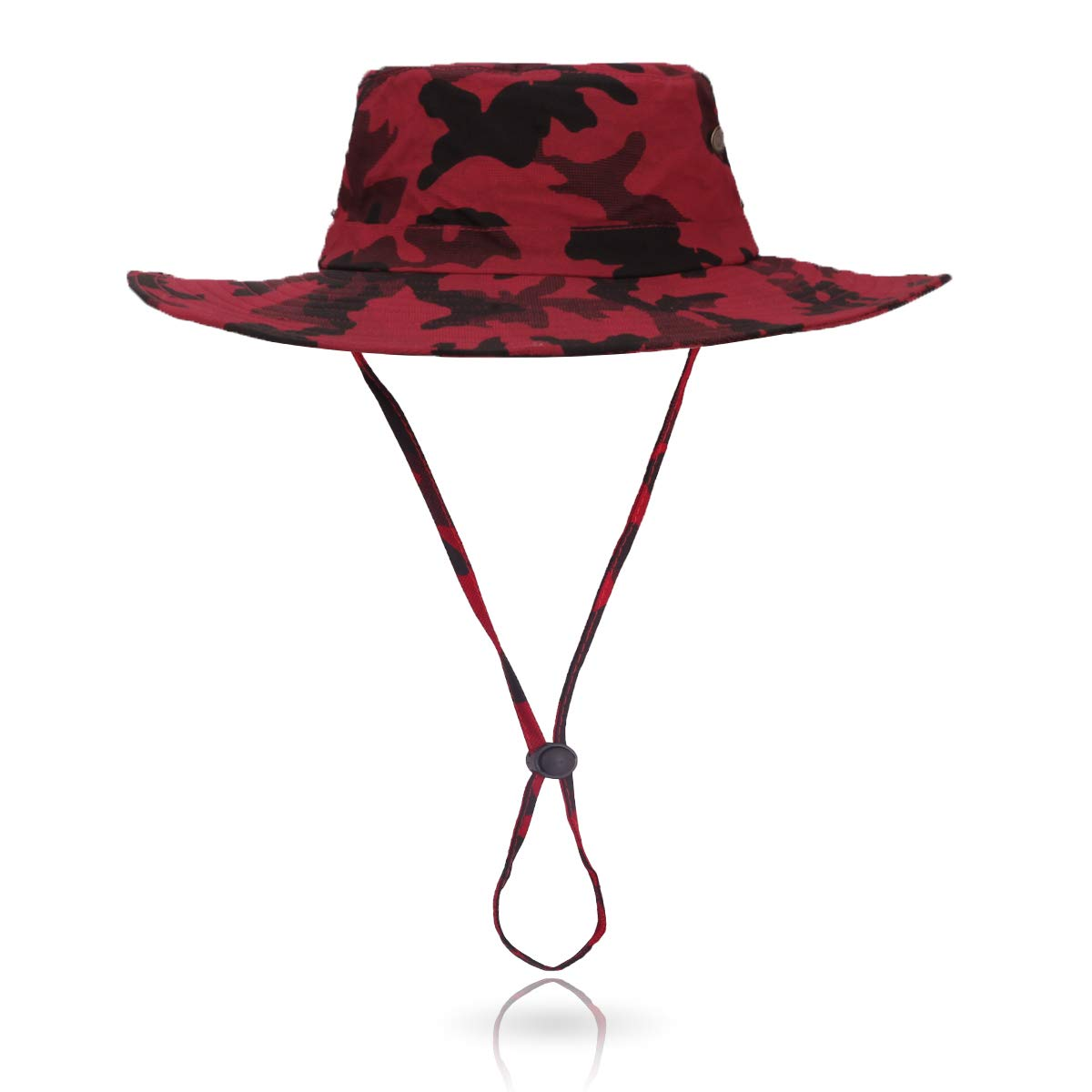 Jane Shine Outdoor Sun Hat Quick-Dry Breathable Mesh Hat Camping Cap Red Camouflage by Jane Shine