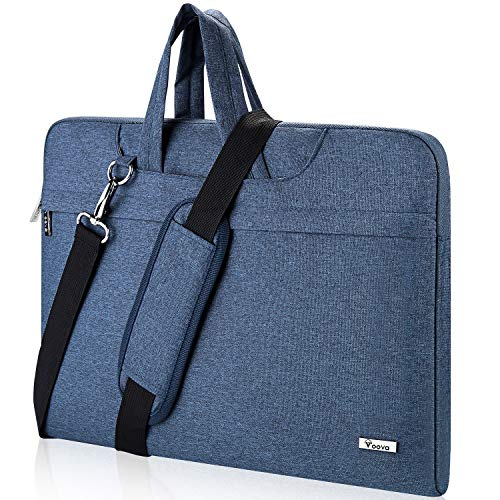 Voova Laptop Shoulder Bag, Carrying Case Sleeve Bag with Strap Compatible with 17 17.3 Inch Computer Notebook MacBook Pro 17