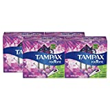 Tampax Radiant Plastic Tampons,Super Absorbency, Unscented, 32 Count, Pack of 4 (Total 128 Count