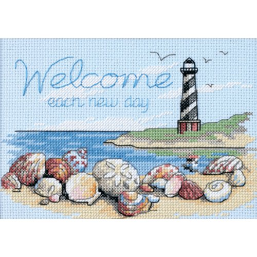 Welcome Home Kit - Dimensions Needlecrafts Counted Cross Stitch, Welcome Each New Day
