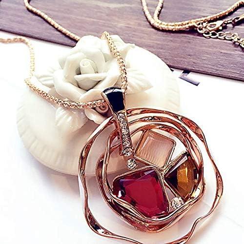 Crystal sweater chain long necklace irregular pendant necklace circle-encrusted diamond pendant