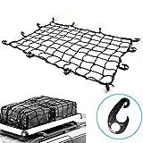 #3: 3' x 4' to 6 'x 8' Latex Cargo Net with 22 Nylon Hooks, 3.2