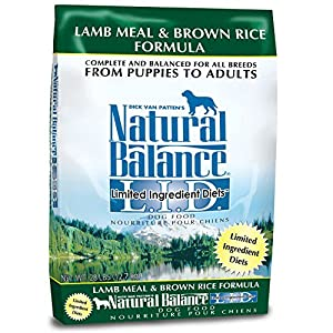Natural Balance L.I.D. Limited Ingredient Diets Lamb Meal & Brown Rice Dog Food, 28 lbs.
