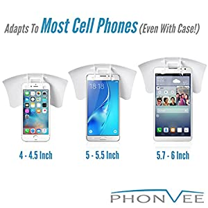 Universal Cell Phone Sunshade | iPhone Sunshade | Phone Shade | Sun Shield for Cell Phones | Smartphone Sunshade | Sun Visor Cell Phone Holder | iPhone 6 Plus Sunshade | Sun Shade for Phone