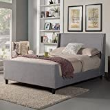 Cheap Alpine Furniture 1094CK Upholstered Bed, California King, Gray