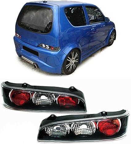 Carparts Online 13292 Klarglas Rückleuchten Schwarz Auto