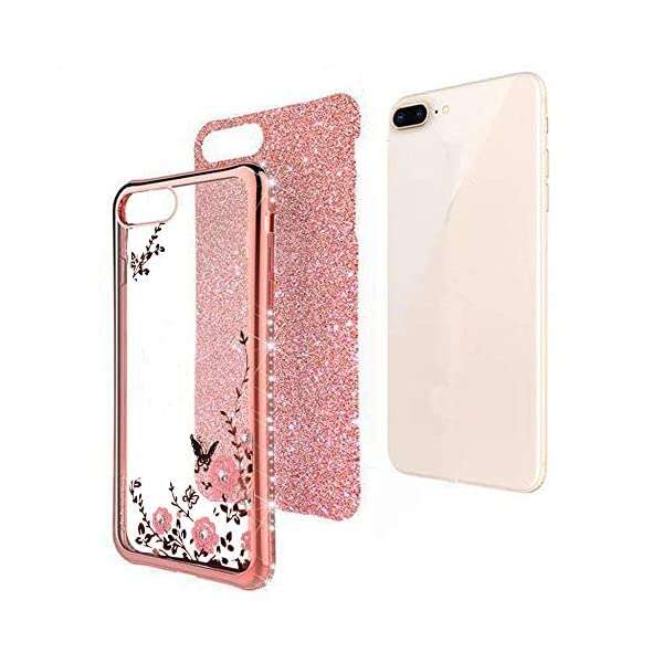 KC Bling Side Diamonds Glitter Auora Flowers 2 in 1 Soft Transparent Silicone Back Cover for Mi Redmi Note 10 & Mi Redmi… 2021 July Compatible with Mi Redmi Note 10 & Mi Redmi Note 10s The back sparkles are an insert (a piece of glitter paper) placed inside the case, it avoid from directly touching, so will always stay sparkle and won't get smudged. There are two holes on the right case bottom to hang the neck lanyard. Mi Redmi Note 10 & Mi Redmi Note 10s bling back cover with sleek design, the edge of case with inlaid artificial rhinestone diamond, suits for teen, teenage girls and women.