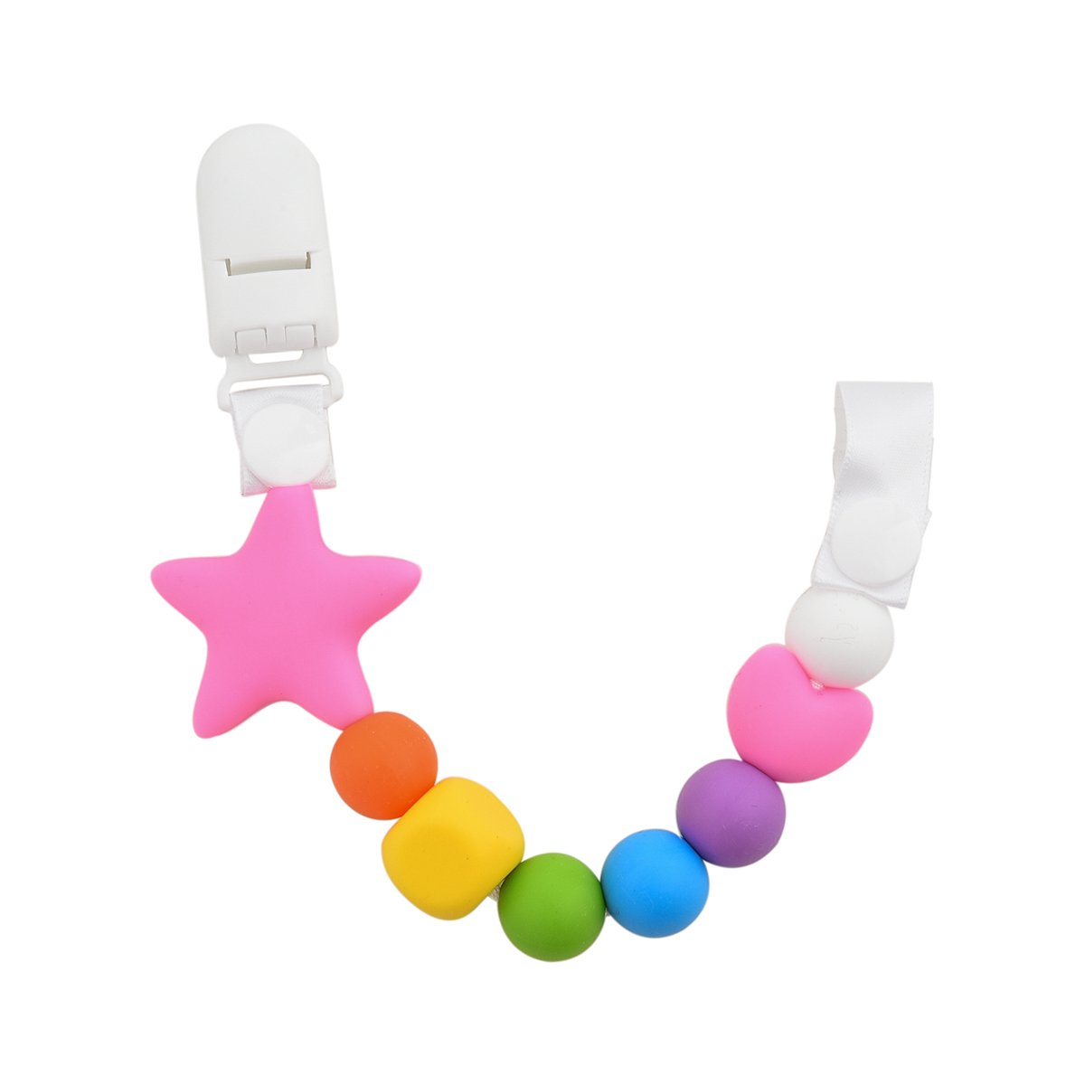 Teether Pacifier Colorful Silicone Soothie Image 2