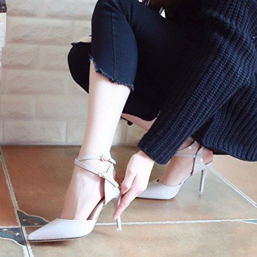 Xue Qiqi Pumps Sandalen Hohl Schuhe für Hohl Sandalen Sandalen Weiblichen Fein mit High-Heel Schuhe im Licht der Damenschuhe Schlitz Nach Dem Tipp Eines leeren Einzelne Schuhe Frauen 2b2422