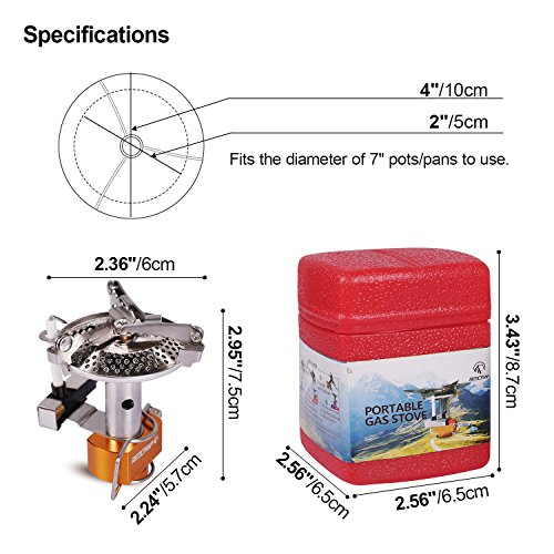 From usa redcamp mini portable camping stove for Propane stove left on overnight