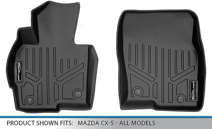 SMARTLINER Custom Fit Floor Mats 2 Row Liner Set Black for 2013-2016 Mazda CX-5 All Models
