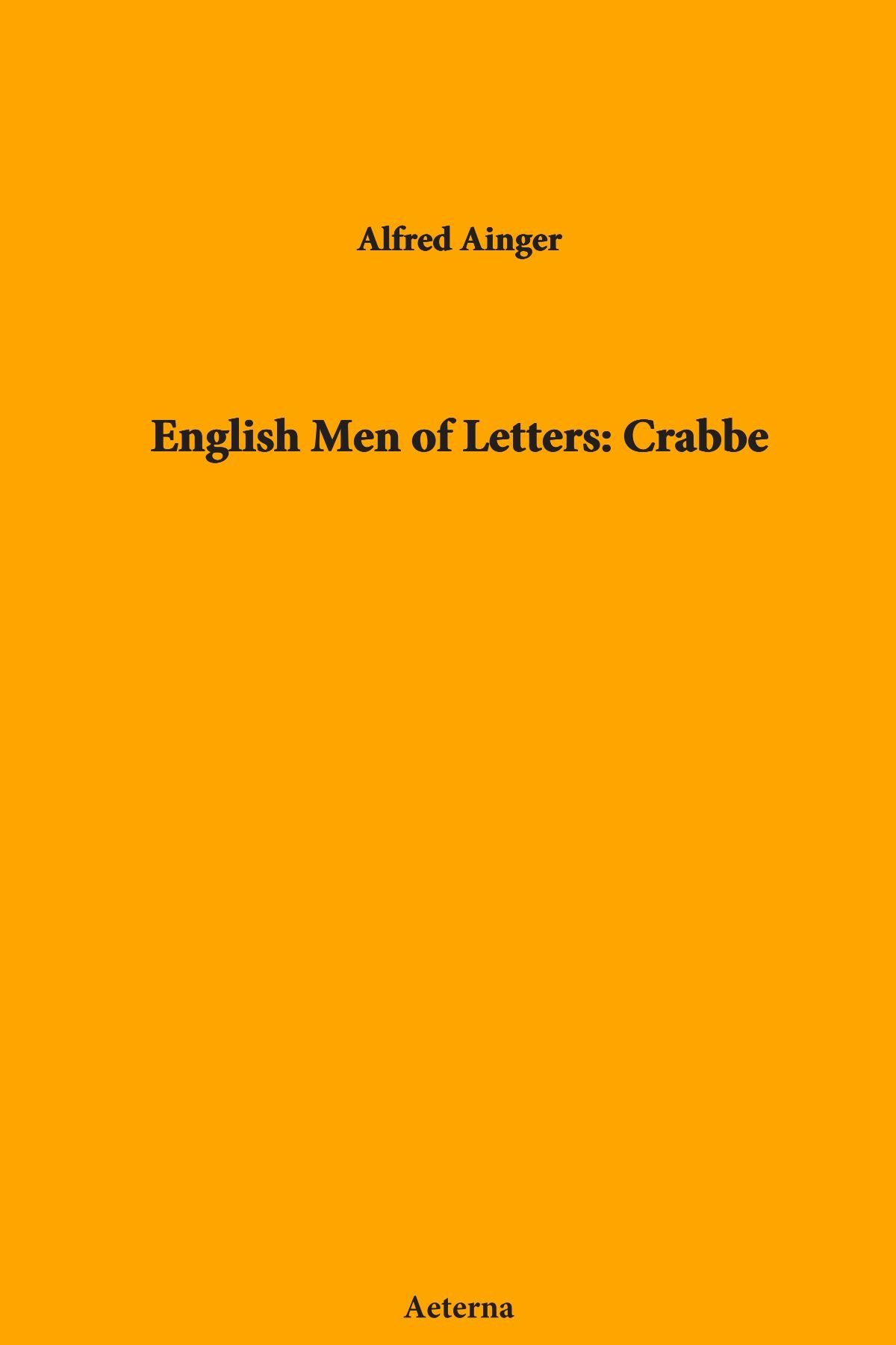 Download English Men of Letters: Crabbe pdf