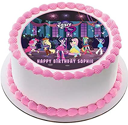 Amazon Com My Little Pony Equestria Girls Edible Cake Topper
