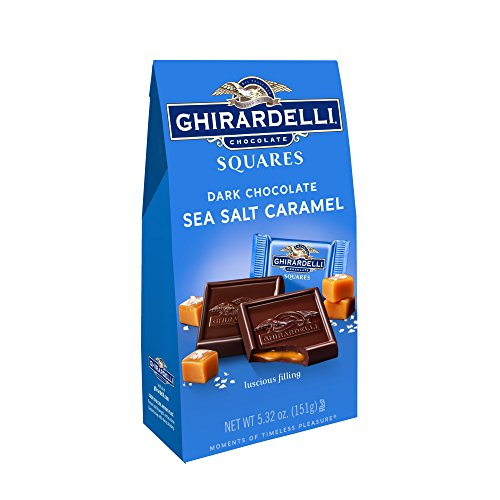 Ghirardelli Dark & Sea Salt Square Caramel Chocolate, 5.32 Oz.