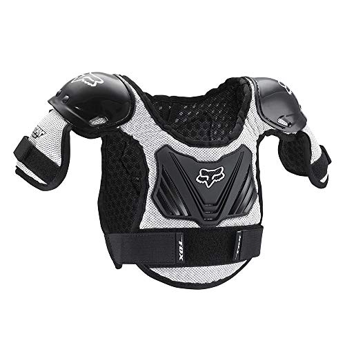 Fox Racing Peewee Titan Youth Roost Deflector Black/Silver-M/L ()