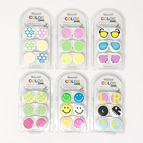 Contact Lens Case, 18 Super Fun Designs (Pack of 18)