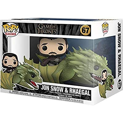 Funko Pop! Rides TV: Game of Thrones - Jon Snow with Rhaegal, Multicolor: Toys & Games