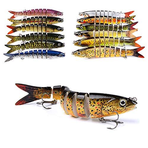 - Agordo 5.23 Multi Jointed Fishing Lure Bait Bass Crank Minnow Swimbait Life Like Pike