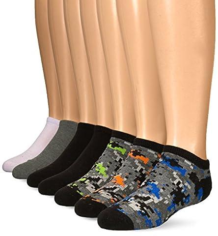 Stride Rite Toddler Boys' 7pk Caleb Digi Camo Comfort Seam No Show, Caleb Digi Camo-Black, 5-6.5 (Shoe Size 3-7)