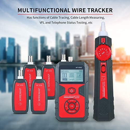 Gecheer Telephone Wire Tracker Electrical Line Finding Testing Cable Tester Handheld Line Finder Cable Detector Wire Measuring Instrument for Network Maintenance