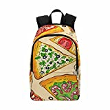 InterestPrint Italy Food Pizza Travel Laptop Backpack, College School Computer Bag