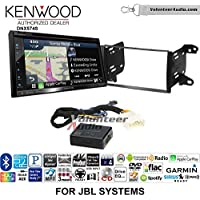 Volunteer Audio Kenwood DNX574S Double Din Radio Install Kit with GPS Navigation Apple CarPlay Android Auto Fits 2011-2013 Toyota Matrix with Amplified System